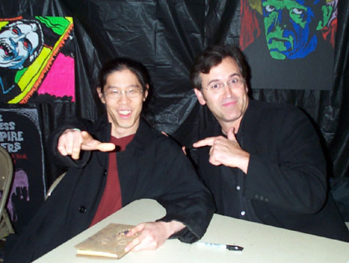 Justin of World Famous Comics and Bruce Campbell