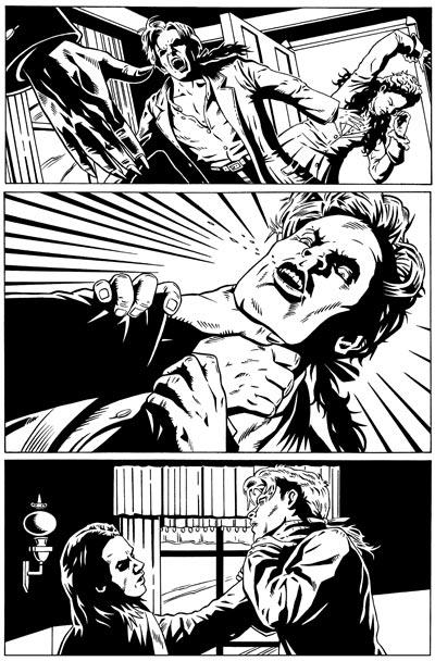 Spike Vs. Dracula 1 Page 12 Inks