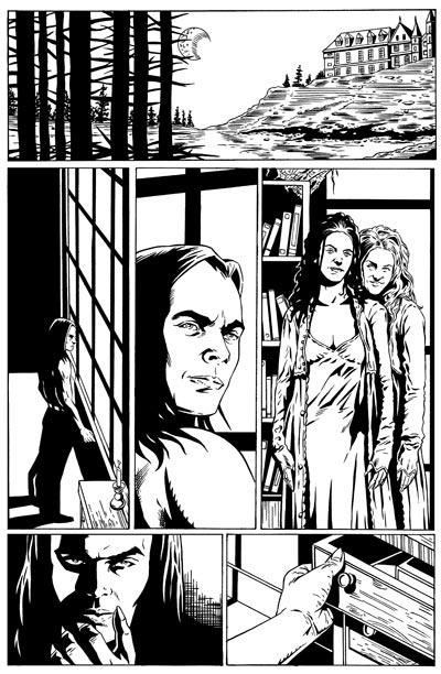 Spike Vs. Dracula 1 Page 15 Inks