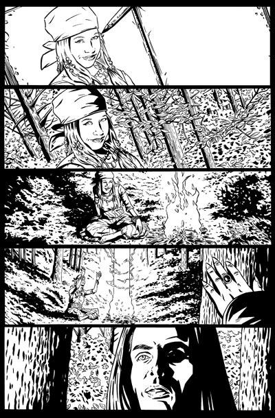 Spike Vs. Dracula Page 1 Inks