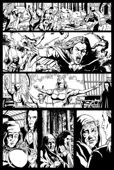 Spike Vs. Dracula 1 Page 2 Inks