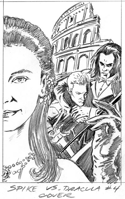 Spike Vs. Dracula 4 Rough Cover