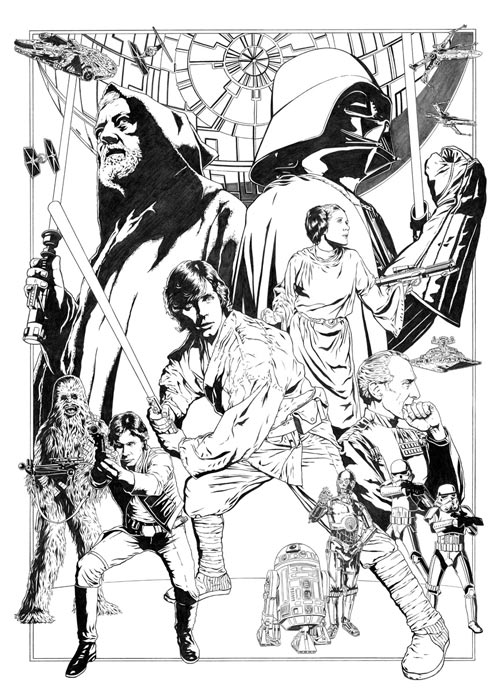 Star Wars: Celebration IV 30th Anniversary Limited Edition Print Pencils