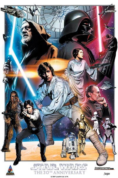 Star Wars: Celebration IV 30th Anniversary Limited Edition Print Design In Progess 1
