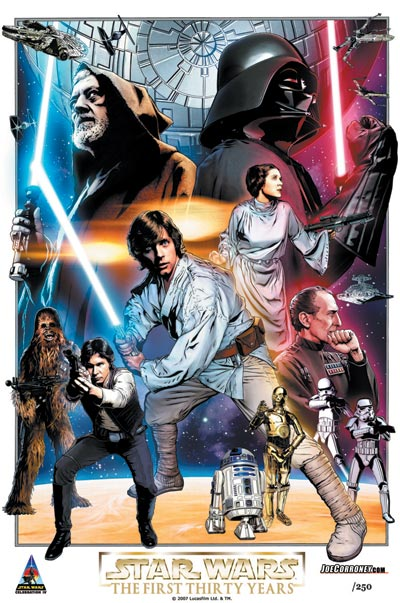 Star Wars: Celebration IV 30th Anniversary Limited Edition Print Design In Progess 2