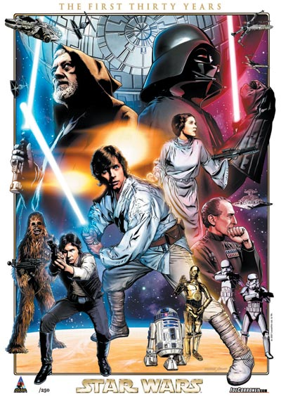 Star Wars: Celebration IV 30th Anniversary Limited Edition Print Design In Progess 3