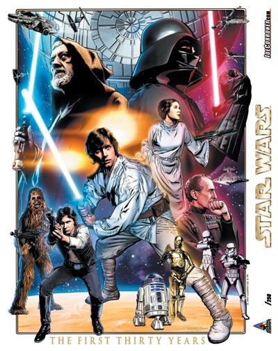 Star Wars: Celebration IV 30th Anniversary Limited Edition Print Design In Progess 4