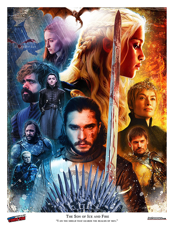 Joe Corroney Game of Thrones Lithograph
