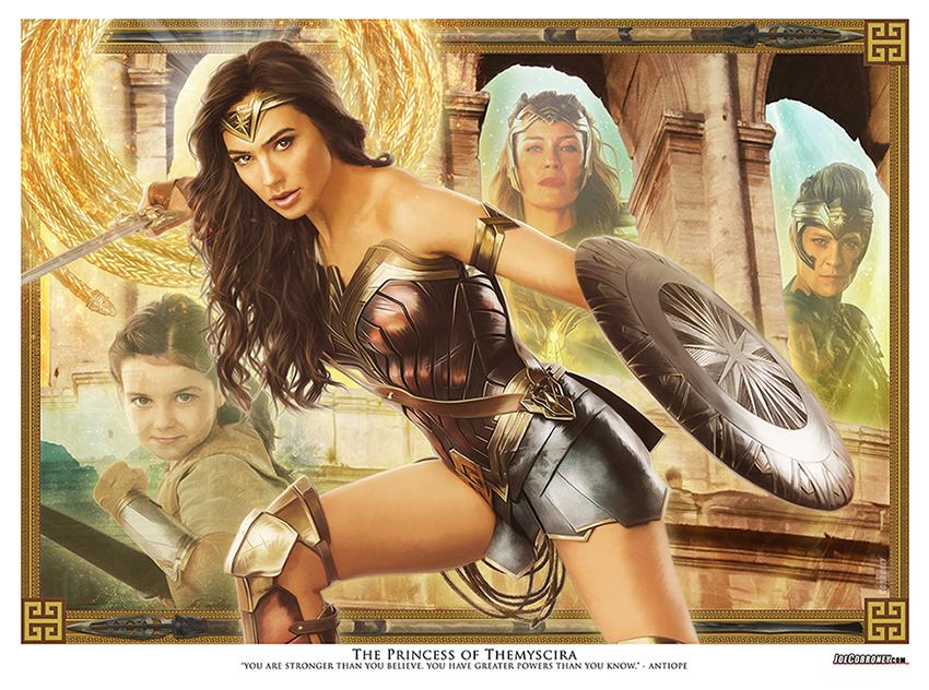 Joe Corroney Wonder Woman Lithograph